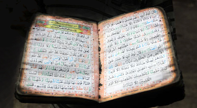 The Sacred Quran preserved by Self  Allah.